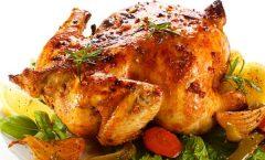 Полнето печено пиле