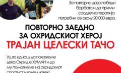 Апел за помош, повторно заедно за охридскиот херој Трајан Целески ТАЧО